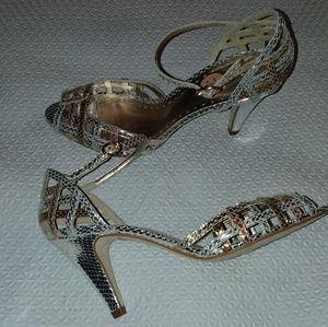 Bcbgirls tri color metallic heels